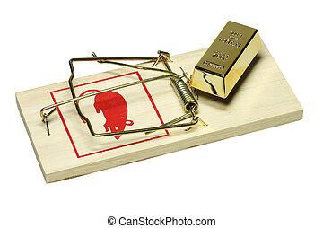 Propriet trappola concetto casa sopra isolato for Concetto casa com