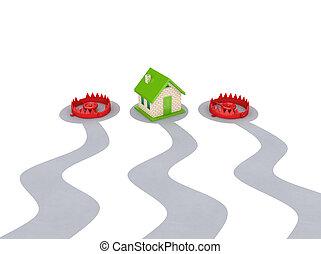 traps., 家, 2, 赤, 小さい