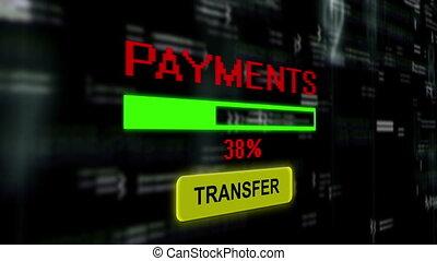 trasferimento, pagamento, linea