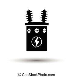 trasformatore, elettrico, icona