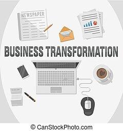 trasformazione, affari, illustratio