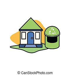 Trash and sustainability design vector ilustration