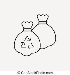 trash bag line icon