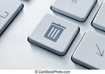 Trash bin button