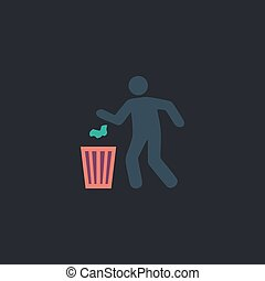 Trash bin computer symbol