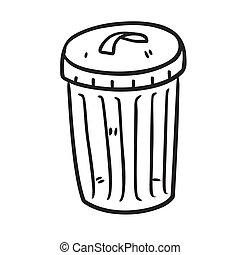 Trash bin doodle