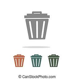 trash bin icon isolated on white background