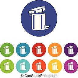 Trash bin icon, simple style - Trash bin icon. Simple...