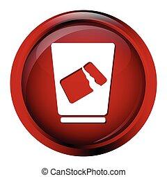 Trash bin icon symbol vector illustration