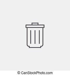 Trash bin icon