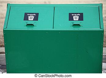 Trash bin.
