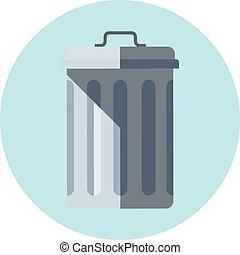 Trash bin theme, flat style, colorful, vector icon