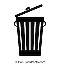 Trash can black simple icon