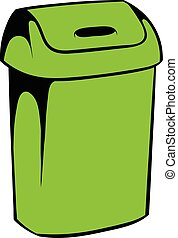 Trash can icon, icon cartoon
