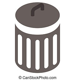 Trash can icon, isometric 3d style