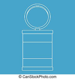 Trash can icon, outline style