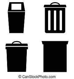 trash can icon set