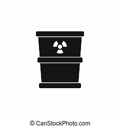 Trash can icon, simple style
