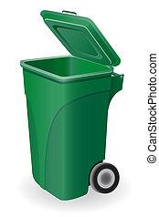 trash can illustration isolated on white background