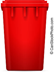 Trash can on a white background. Vector illustration.