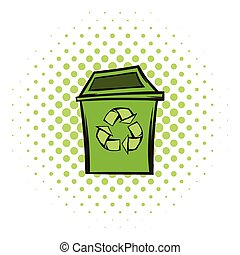 Trash can recycling eco symbol