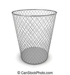 Trash can. 3d illustration on white background