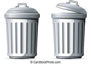 Trash can. Vector illustration over white. EPS 8, AI, JPEG