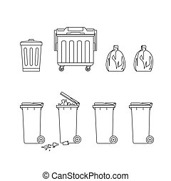 Trash cans and dumpsters