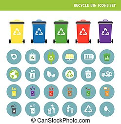 trash categories recycle garbage bin