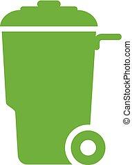 Trash container vector icon
