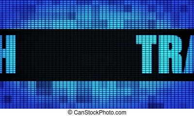 Trash Front Text Scrolling LED Wall Pannel Display Sign...