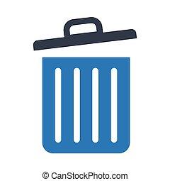 trash glyph color icon