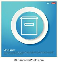 Trash icon Abstract Blue Web Sticker Button