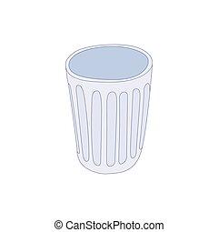 Trash icon, cartoon style