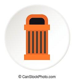 Trash icon, flat style