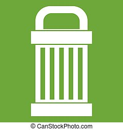 Trash icon green