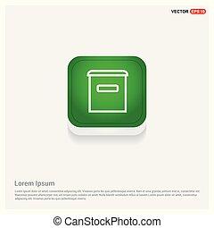 Trash icon Green Web Button