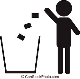 Trash icon isolated on a white background