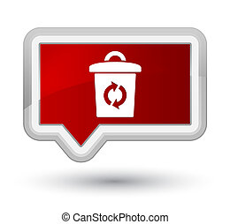 Trash icon prime red banner button