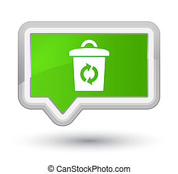 Trash icon prime soft green banner button