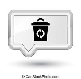 Trash icon prime white banner button
