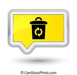 Trash icon prime yellow banner button