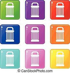Trash icons 9 set