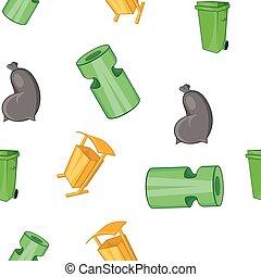 Trash pattern, cartoon style