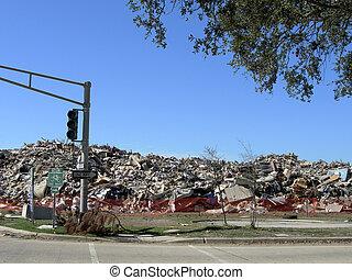Trash Pile - pile of debris left from Hurricane Katrina...