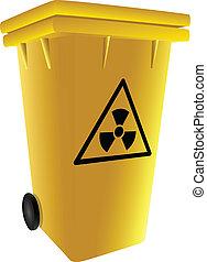 Trash radioactive waste