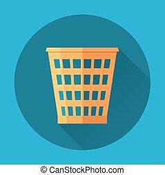 Trash Recycle Bin Garbage Flat icon . Vector illustration