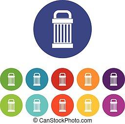 Trash set icons
