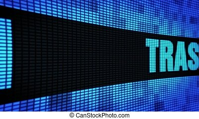 Trash Side Text Scrolling LED Wall Pannel Display Sign Board...