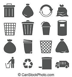 trashcan icon set